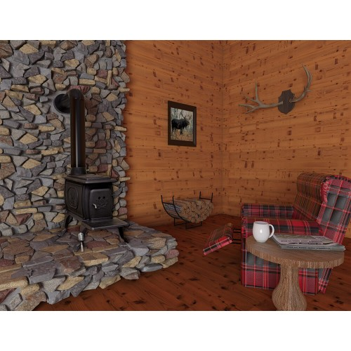 1269E Cast Iron Wood Stove - Cast Iron Wood Stove